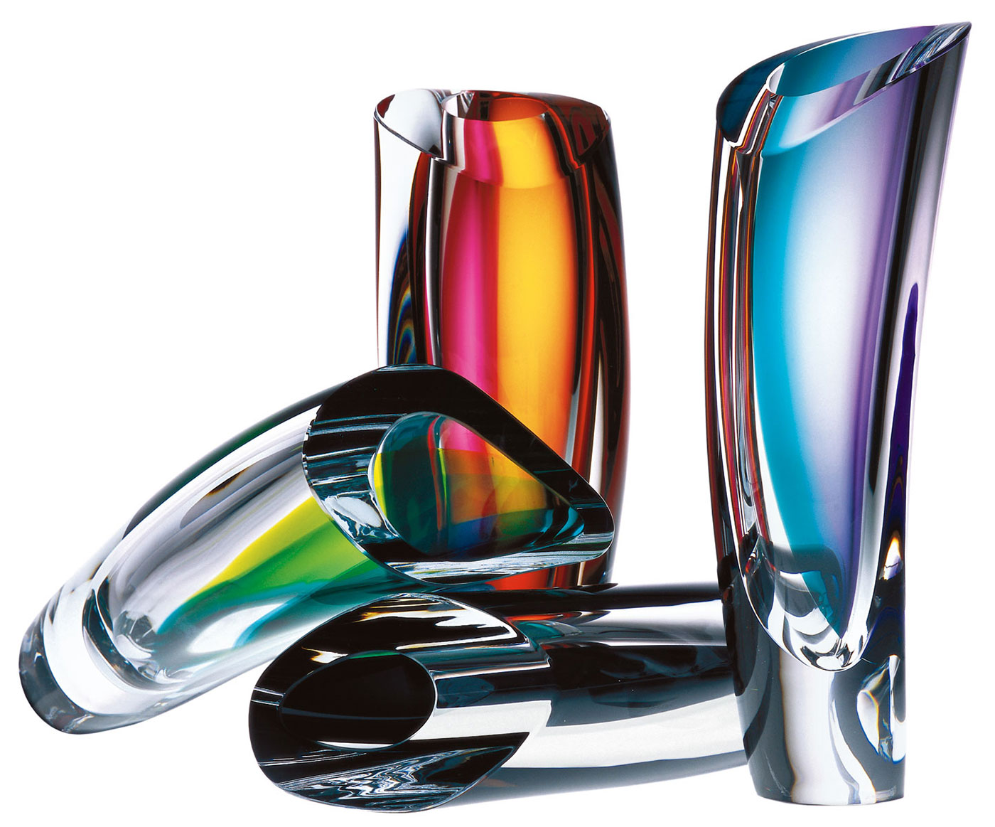 Obegi Home Accessories Kosta Boda Mirage Vase Blue Amber