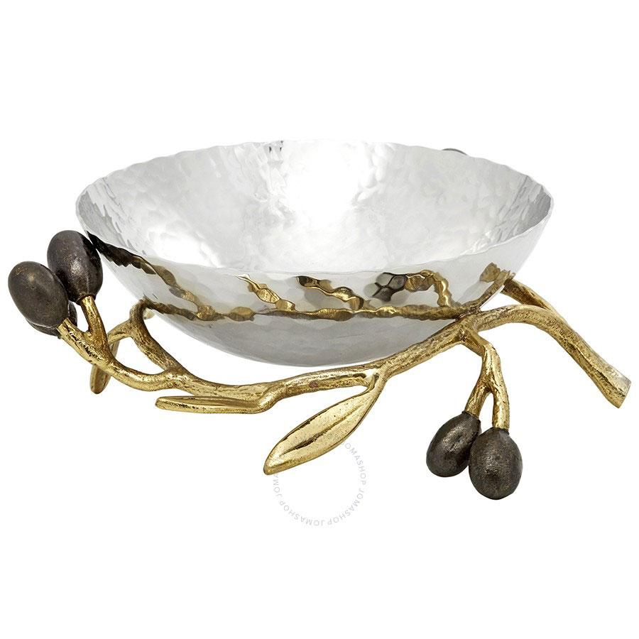 Obegi Home Accessories Michael Aram Olive Branch Gold Nut Dish