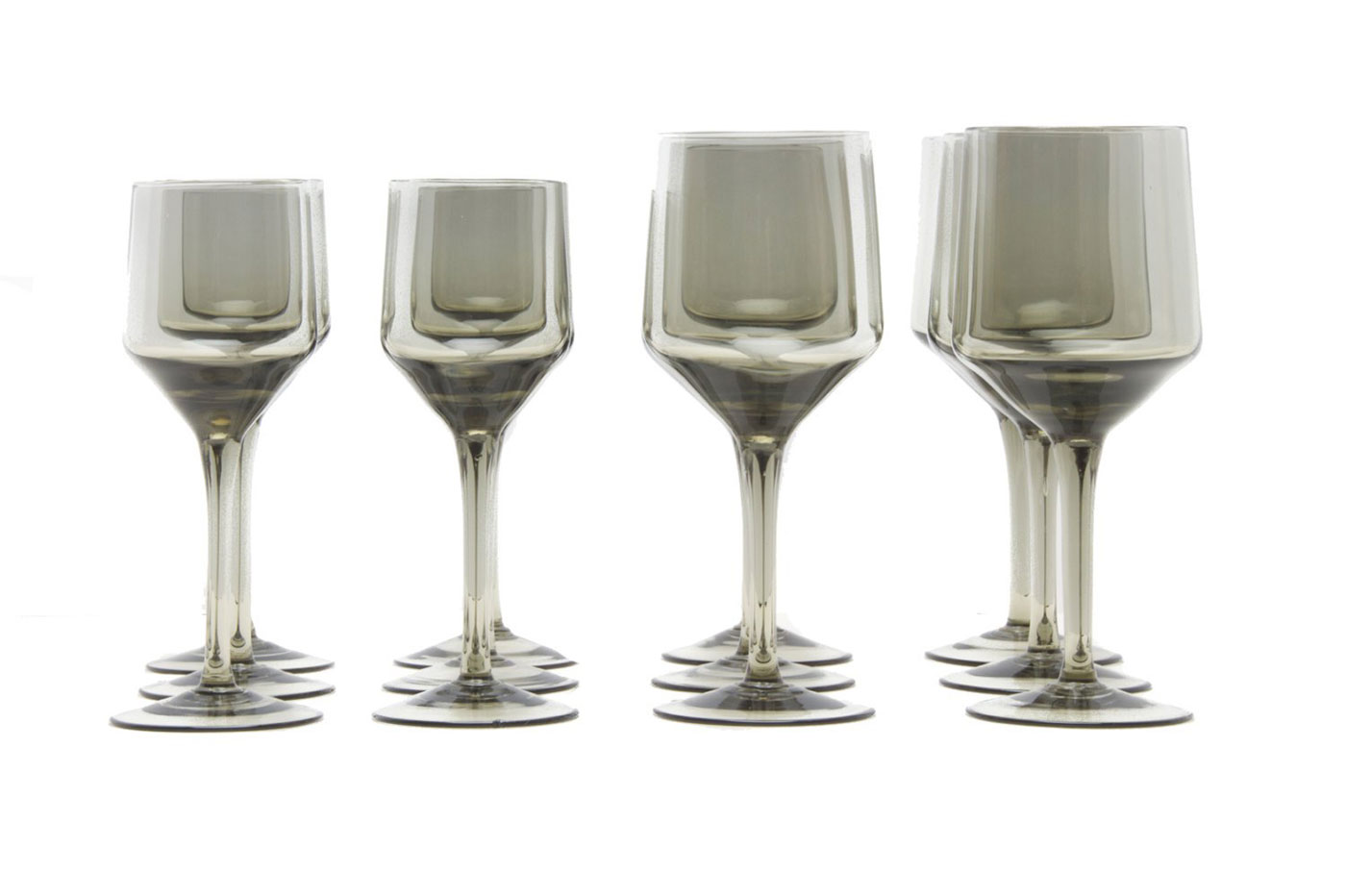 Obegi Home Accessories Orrefors Smoked Glass Wine Glass Rhapsody Design