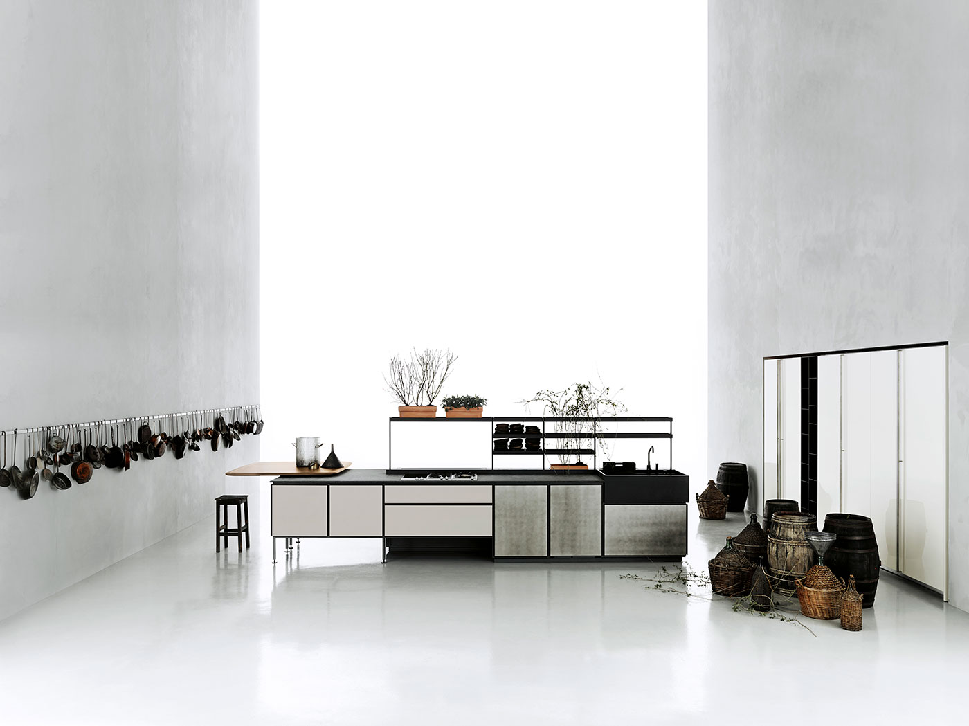 Obegi Home Boffi Salinas Kitchen and Hide By Tommasosartori High