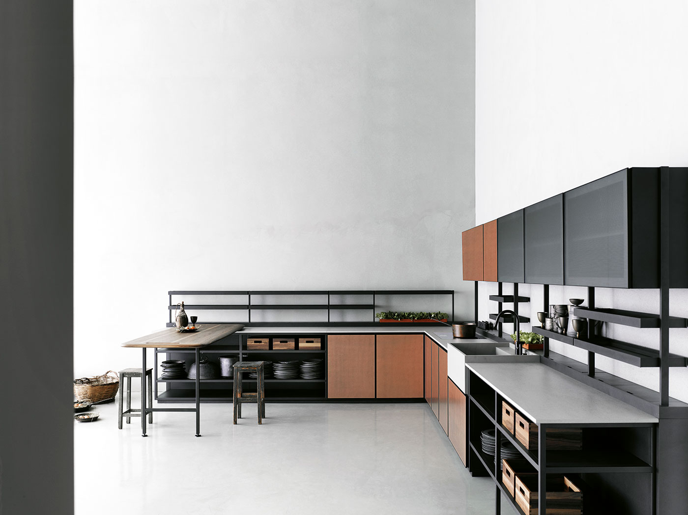 Obegi Home Boffi Salinas kitchen and Wall Units By Tommasosartori High