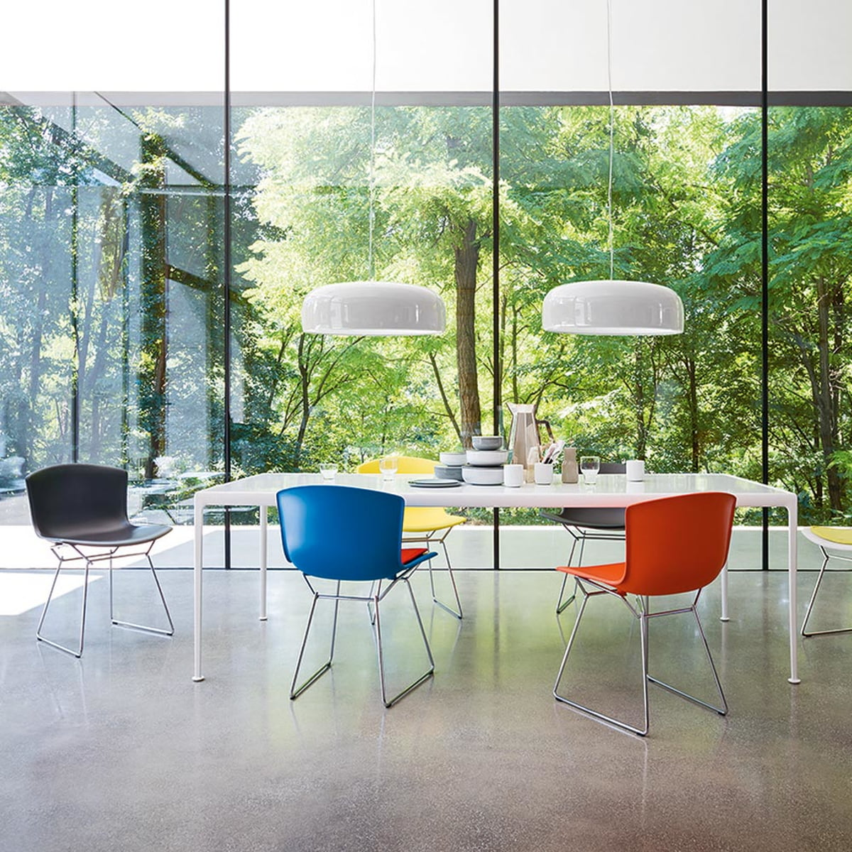 Obegi Home Furniture Knoll Bertoia Plastic Chairs Ambiente