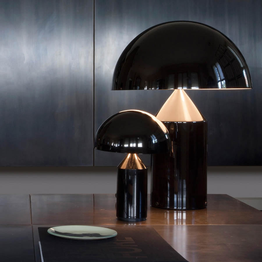 Obegi Home Lighting Oluce Atollo Black Table Lamp