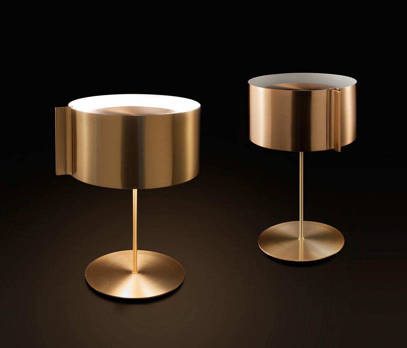 Obegi Home Lighting Oluce Switch Gold Still Life Design