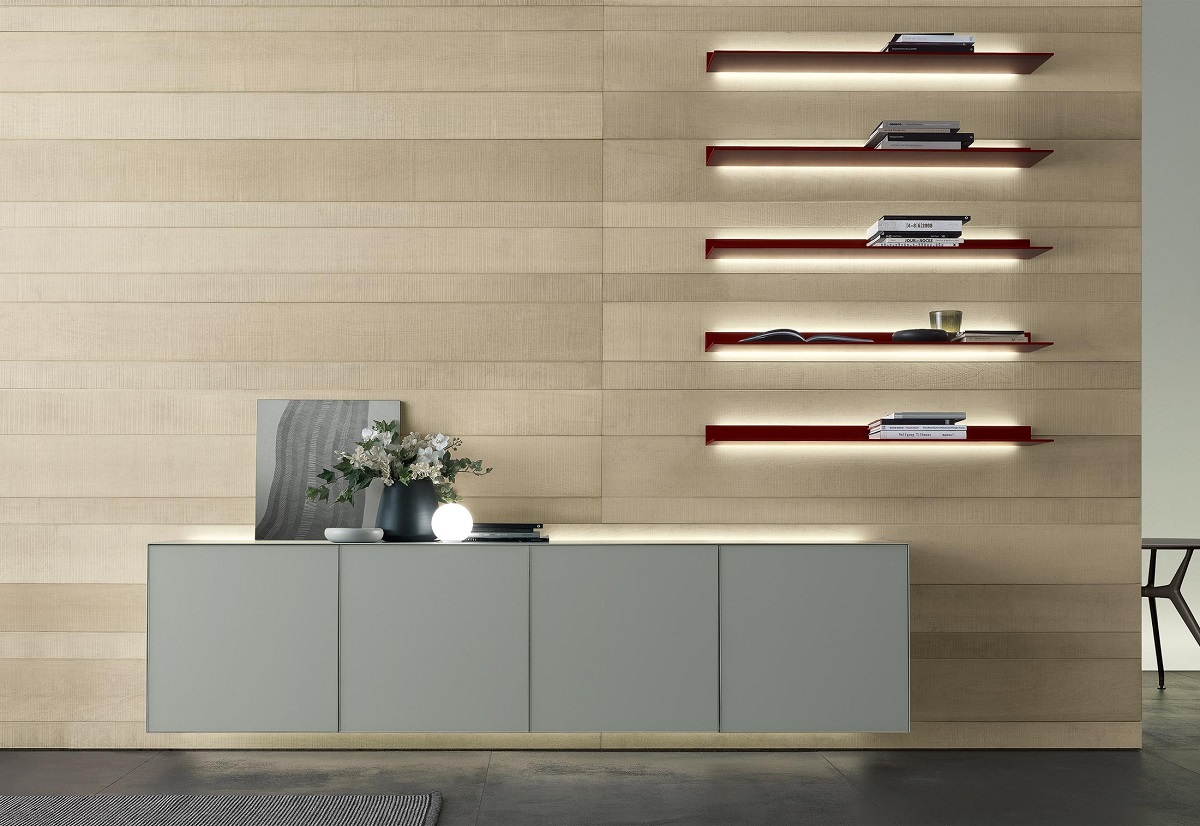 Obegi Home Wall Systems Rimadesio Bavuso Eos Shelves