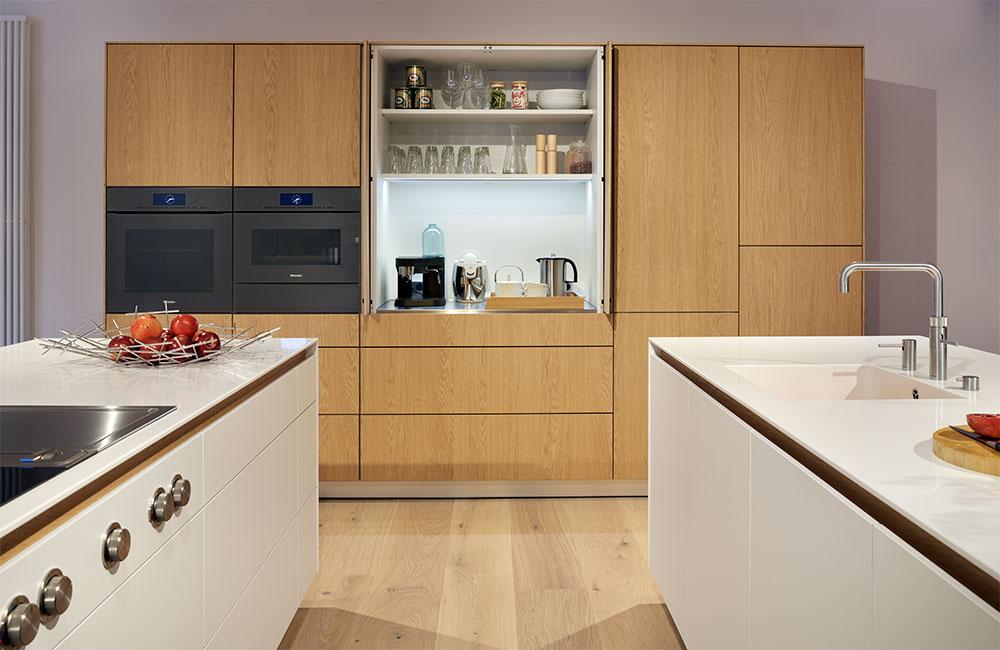 Obegi Home Bulthaup Kitchens bulthaup b3 Pocket Door Oak Veneer Furniture