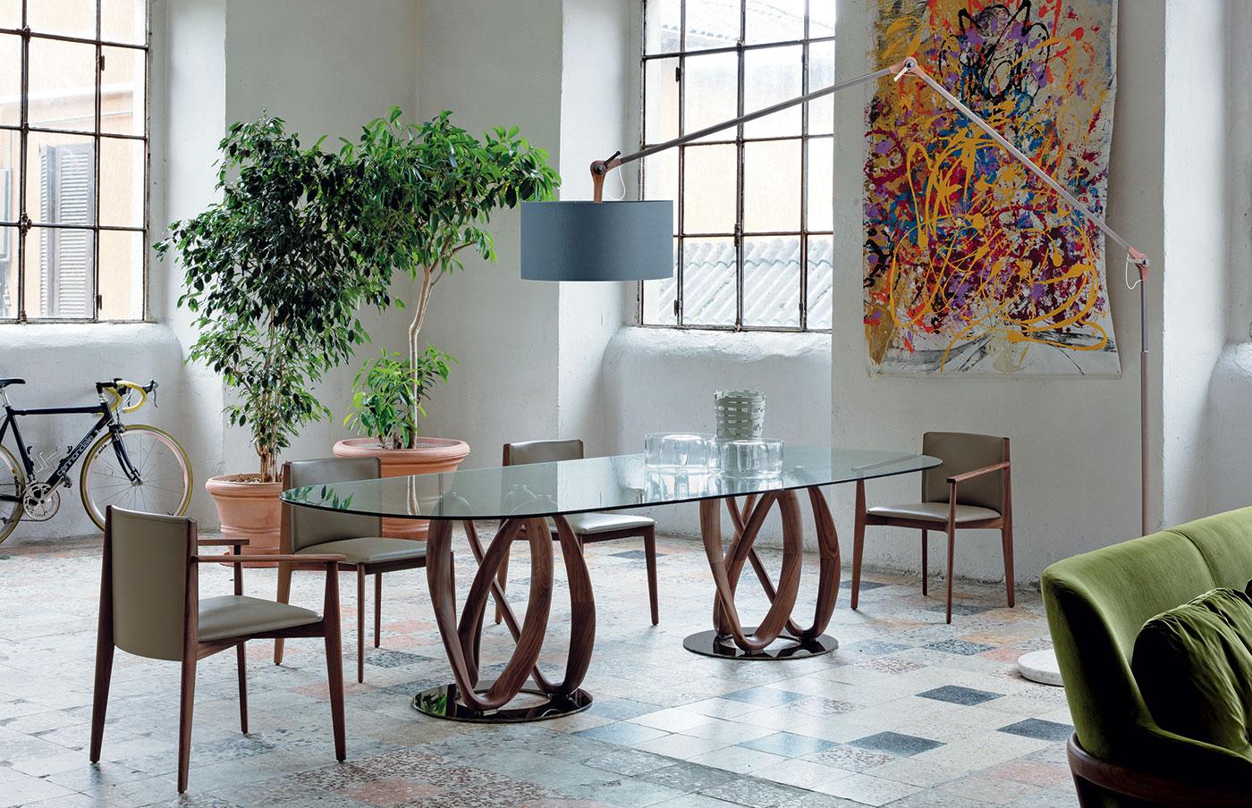 Obegi Home Furniture Porada Table Chairs