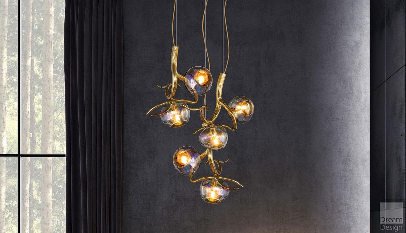 Obegi Home Lighting Brand Van Egmond Ersa Double Sphere Light