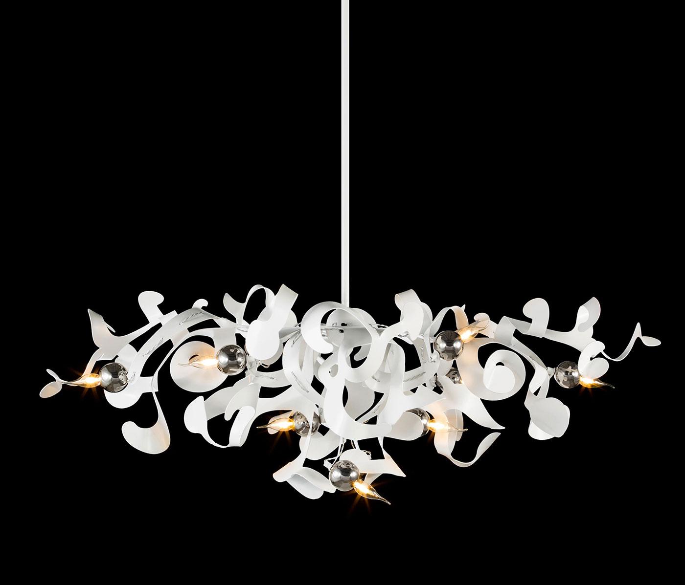 Obegi Home Lighting Brand Van Egmond kelp oval chandelier