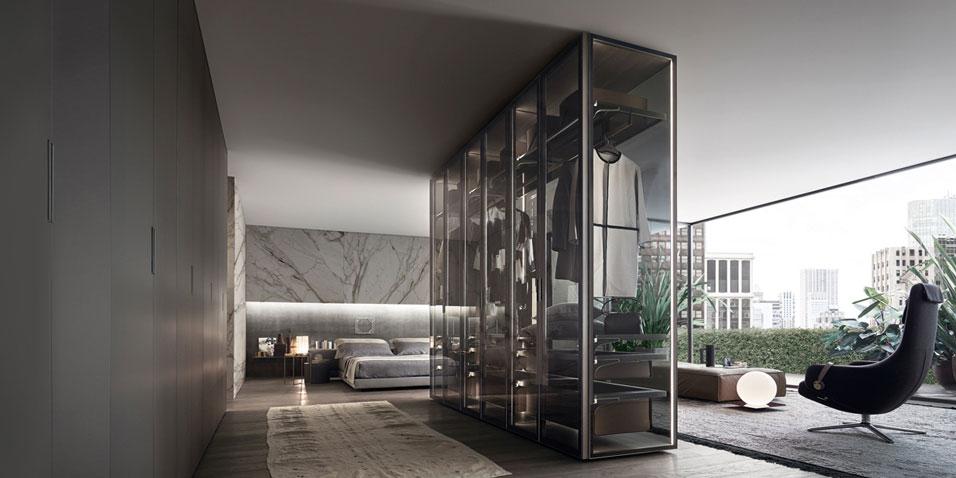 Obegi Home Wardrobes Rimadesio Storage System Cover Freestanding 1